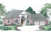 Colonial Style House Plan - 5 Beds 4.5 Baths 4330 Sq/Ft Plan #453-37 Photo