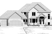 Traditional Style House Plan - 4 Beds 3 Baths 2821 Sq/Ft Plan #51-496 Exterior - Other Elevation