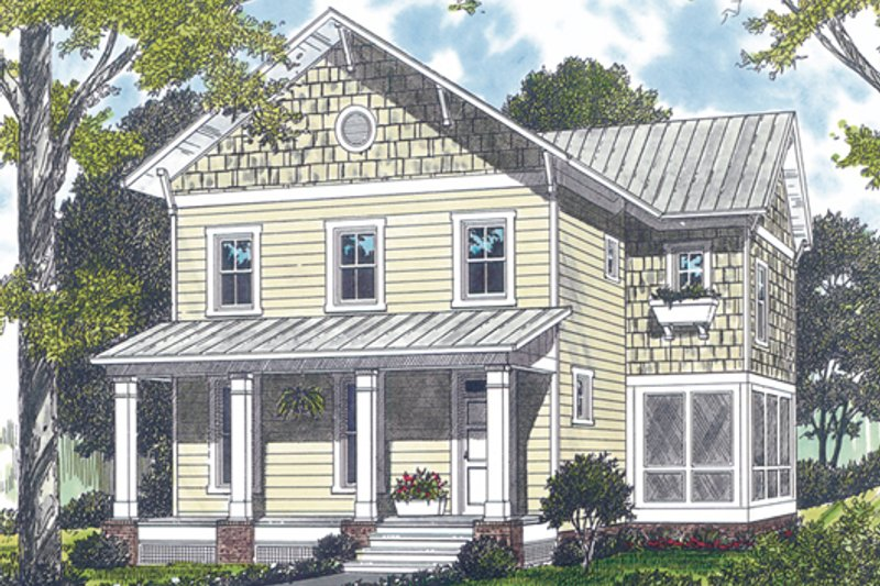 Farmhouse Exterior - Front Elevation Plan #453-2