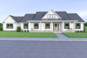 Contemporary Exterior - Front Elevation Plan #1070-85