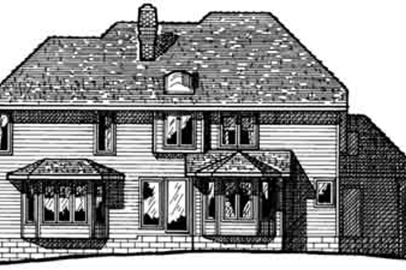 Traditional Exterior - Rear Elevation Plan #20-1073 - Houseplans.com