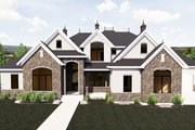 European Style House Plan - 7 Beds 5 Baths 6042 Sq/Ft Plan #920-86 Exterior - Front Elevation