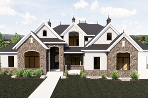 European Exterior - Front Elevation Plan #920-86