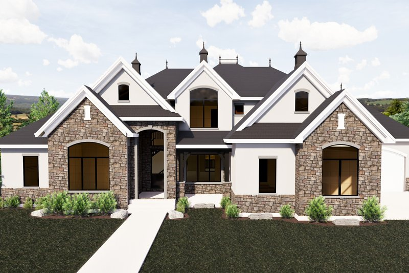 Dream House Plan - European Exterior - Front Elevation Plan #920-86