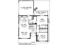 Ranch Floor Plan - Main Floor Plan Plan #70-1242