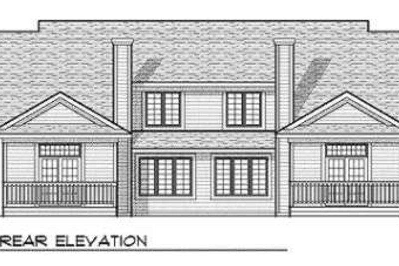 Traditional Exterior - Rear Elevation Plan #70-711 - Houseplans.com