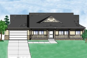 Ranch Exterior - Front Elevation Plan #5-140