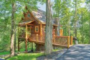 Cabin Style House Plan - 1 Beds 1 Baths 651 Sq/Ft Plan #123-115