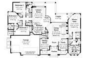 Mediterranean Style House Plan - 4 Beds 3 Baths 2908 Sq/Ft Plan #930-14 Floor Plan - Main Floor Plan