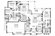 Mediterranean Style House Plan - 4 Beds 3 Baths 2908 Sq/Ft Plan #930-14 Floor Plan - Main Floor Plan