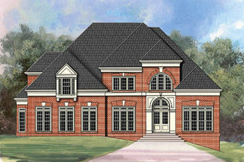 European Exterior - Front Elevation Plan #119-302
