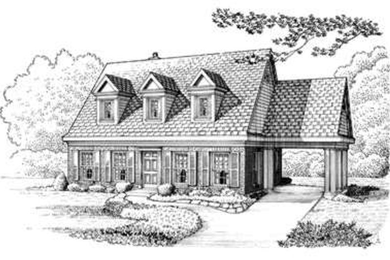 Colonial Exterior - Front Elevation Plan #410-314