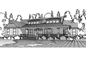 Craftsman Exterior - Front Elevation Plan #63-372