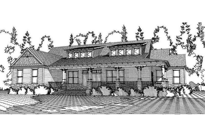 Craftsman Exterior - Front Elevation Plan #63-372