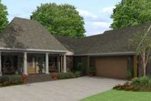 Dream House Plan - Southern Exterior - Front Elevation Plan #406-300