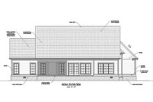 Architectural House Design - Ranch Exterior - Rear Elevation Plan #1071-12