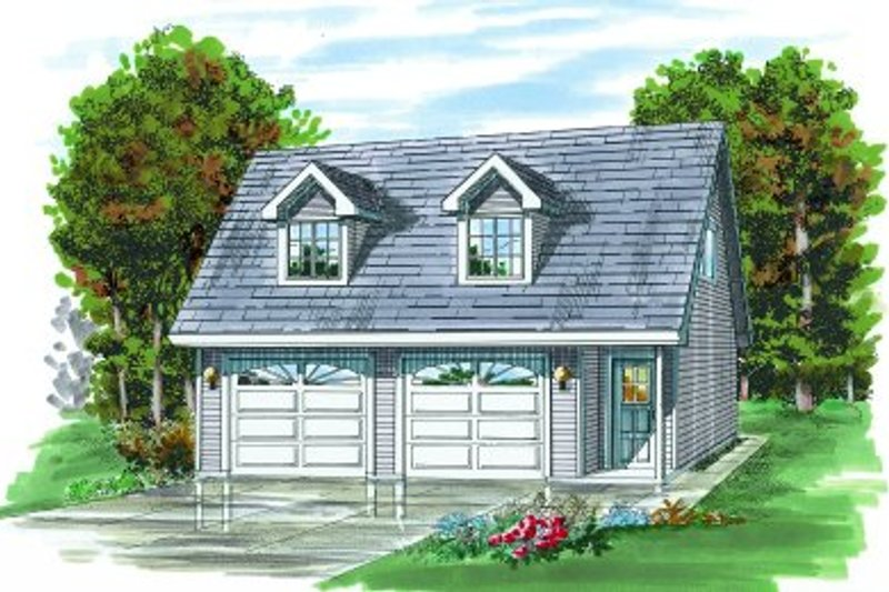Country Exterior - Front Elevation Plan #47-508