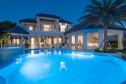 Mediterranean Style House Plan - 6 Beds 7.5 Baths 7395 Sq/Ft Plan #548-4 Exterior - Rear Elevation
