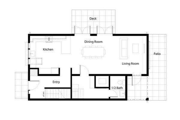 Traditional Floor Plan - Main Floor Plan Plan #497-39