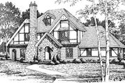 European Style House Plan - 4 Beds 2.5 Baths 2496 Sq/Ft Plan #10-253 Exterior - Front Elevation