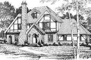 European Exterior - Front Elevation Plan #10-253