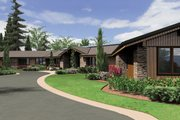 Ranch Style House Plan - 5 Beds 5.5 Baths 5884 Sq/Ft Plan #48-433 Exterior - Front Elevation