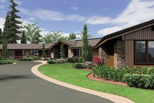 Ranch Exterior - Front Elevation Plan #48-433