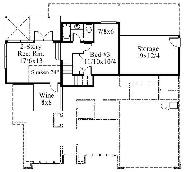 Modern Floor Plan - Lower Floor Plan Plan #509-11