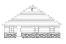 Architectural House Design - Ranch Exterior - Rear Elevation Plan #5-234