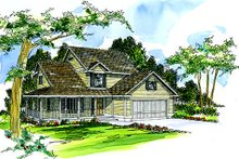 Home Plan - Farmhouse Exterior - Front Elevation Plan #124-196