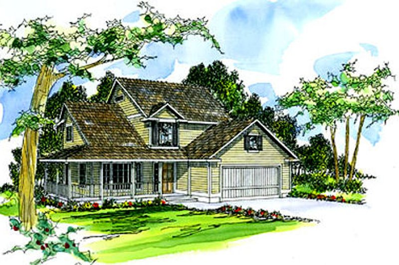 Dream House Plan - Farmhouse Exterior - Front Elevation Plan #124-196