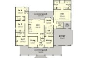 Southern Style House Plan - 4 Beds 3.5 Baths 2683 Sq/Ft Plan #16-332 Floor Plan - Main Floor