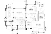 Modern Style House Plan - 4 Beds 3.5 Baths 4600 Sq/Ft Plan #48-457 Floor Plan - Main Floor