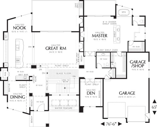 Modern Floor Plan - Main Floor Plan Plan #48-457