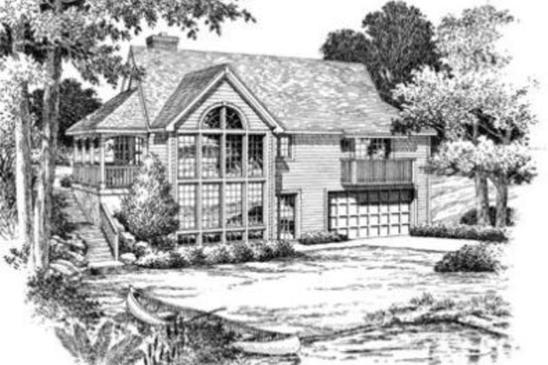 Country Exterior - Rear Elevation Plan #57-188 - Houseplans.com
