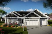 Ranch Style House Plan - 3 Beds 2 Baths 2005 Sq/Ft Plan #70-1485 Exterior - Other Elevation