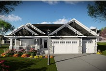 Home Plan - Ranch Exterior - Other Elevation Plan #70-1485