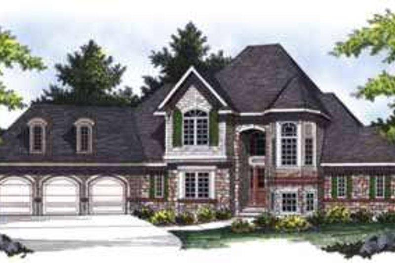 Dream House Plan - European Exterior - Front Elevation Plan #70-848