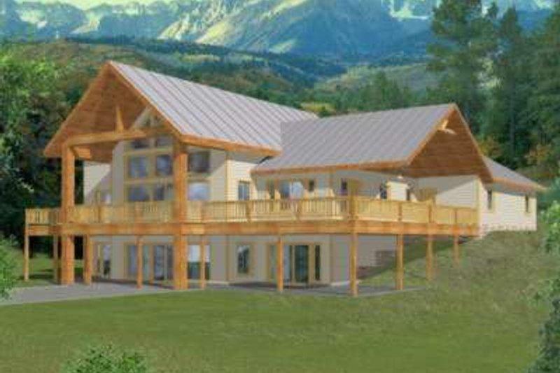 Modern Exterior - Front Elevation Plan #117-385