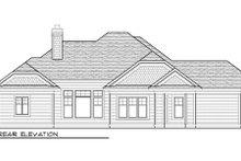 Home Plan - Bungalow Exterior - Rear Elevation Plan #70-983