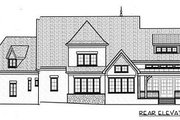European Style House Plan - 4 Beds 3.5 Baths 4154 Sq/Ft Plan #413-133 Exterior - Rear Elevation