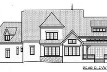 European Exterior - Rear Elevation Plan #413-133