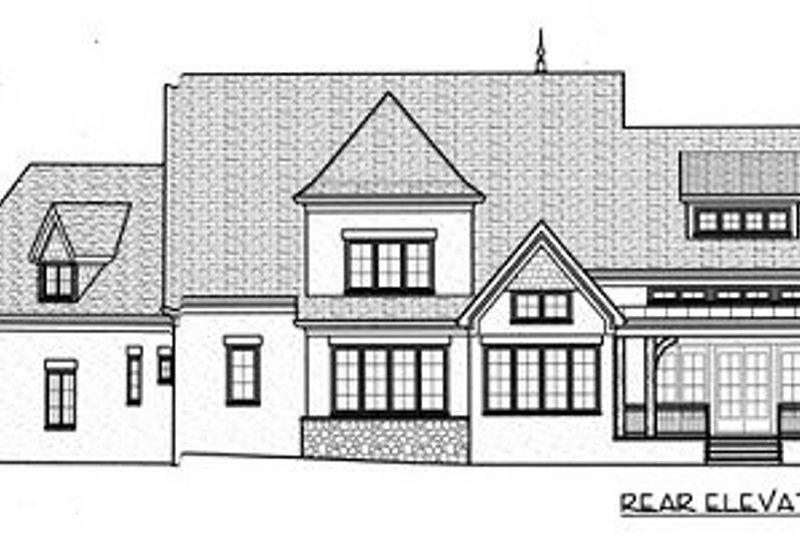 European Exterior - Rear Elevation Plan #413-133 - Houseplans.com