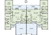 Country Style House Plan - 4 Beds 3 Baths 1875 Sq/Ft Plan #17-2402 Floor Plan - Main Floor