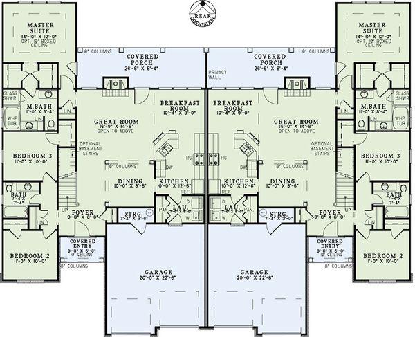 Dream House Plan - Country Floor Plan - Main Floor Plan #17-2402