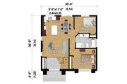 Contemporary Style House Plan - 2 Beds 1 Baths 900 Sq/Ft Plan #25-4287 Floor Plan - Main Floor Plan