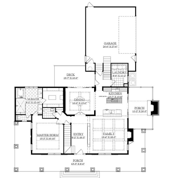 Country Floor Plan - Main Floor Plan Plan #1071-10