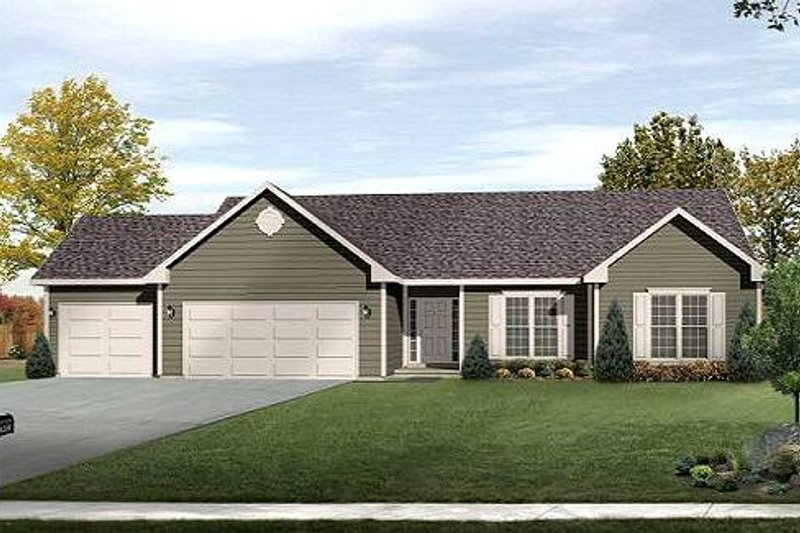 Ranch Exterior - Front Elevation Plan #22-526