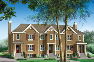 Traditional Exterior - Front Elevation Plan #25-4615