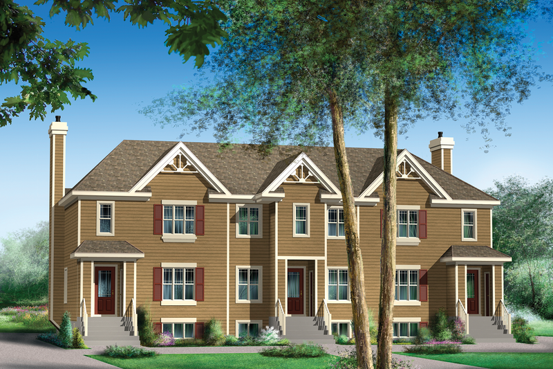 Traditional Style House Plan - 9 Beds 3 Baths 6338 Sq/Ft Plan #25-4615 Exterior - Front Elevation